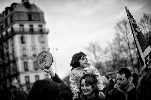 Supporters of Presidential Candidate Jean-Luc Melanchon