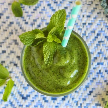 Minty Tropical Green Smoothie