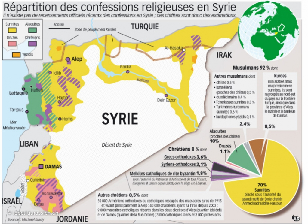 Syrie - Carte - Mappe - Plan