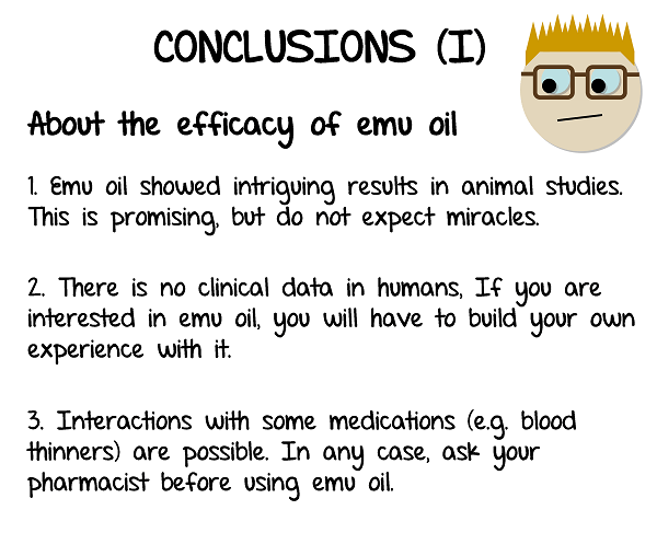 My conclusions on the efficacy of emu oil