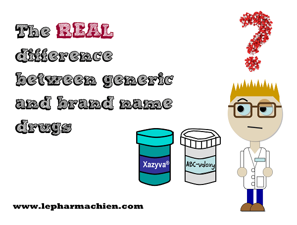 The REAL difference between generic and brand name drugs - Le Pharmachien : title