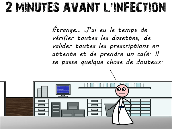 2 minutes avant l'infection