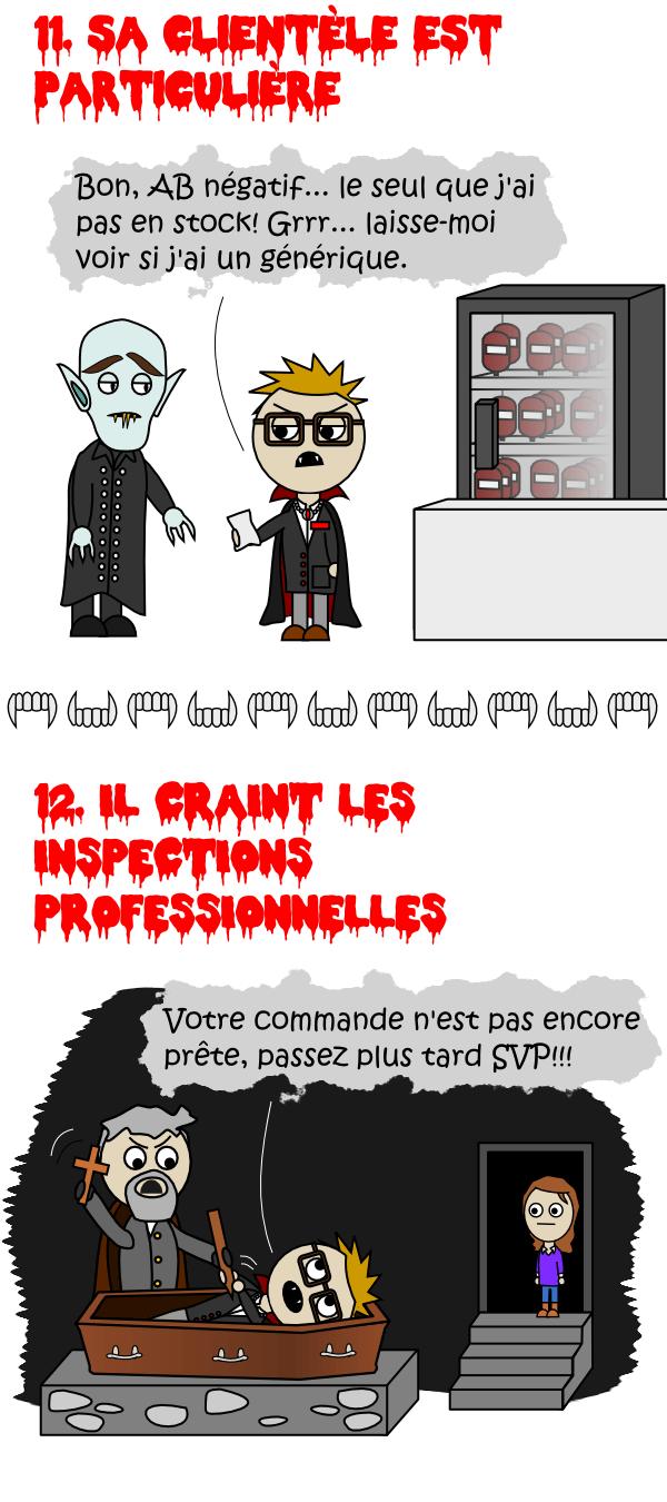 Sa clientèle est particulière / Il craint les inspections professionnelles