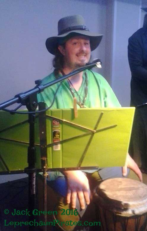 Leprechaun sightings of Pirate Justin and his Djembe