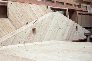 Holzhaus Bauteile