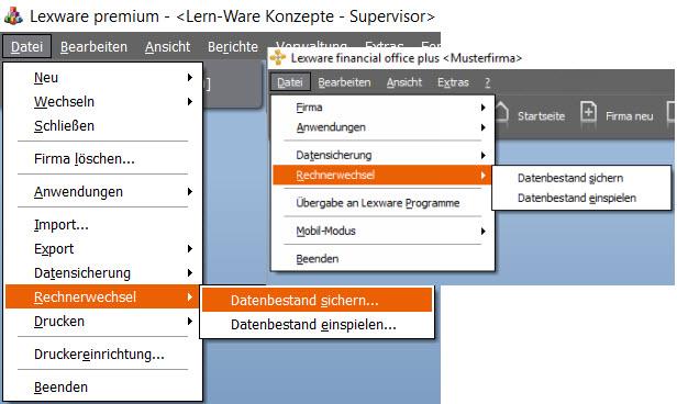 Lexware Rechnerwechsel Standard und Netzwerk