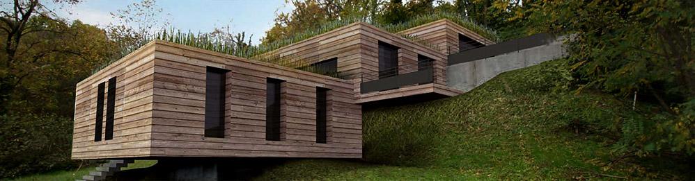 Maison au Lac du0027Aiguebelette par BFG CADRE DE VIE Au, Cadre and Vie - agrandissement maison bois prix m
