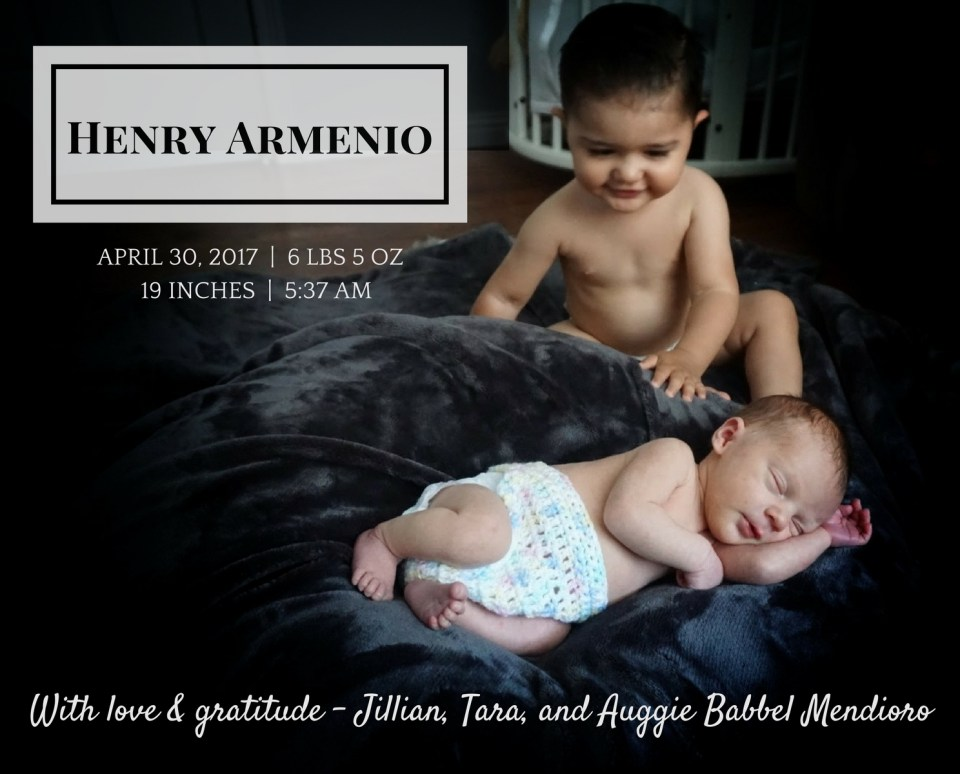 Henry Armenio Birth Announcemnt (3)