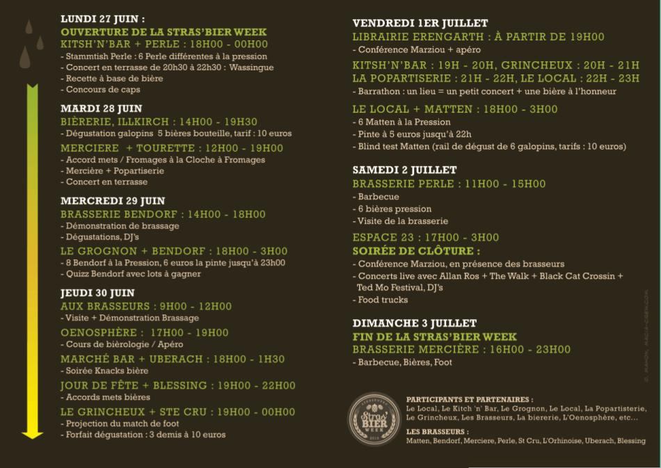 Stras'bier week programme