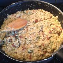 risotto roquette-tomates séchées cuisson
