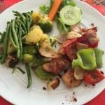 Poulet et ses légumes mixtes