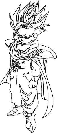 Coloriage Dragon Ball Z 49 - LesColoriages.net