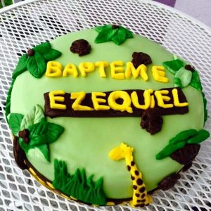 Gateau bapteme / jungle