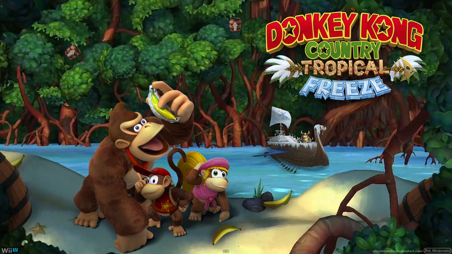 Super Mario 3d Hd Wallpaper Test Donkey Kong Country Tropical Freeze Les