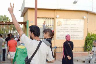 Arrivée de syriens heureux et triomphants devant le Centre temporaire de protection des réfugiés à Melilla ©DR