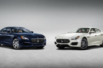 From left the new Quattroporte S Q4 GranLusso version  & GTS