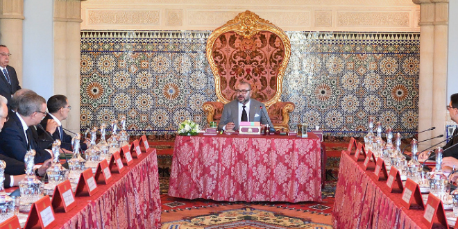 Report du Conseil des ministres présidé par le roi Mohammed VI