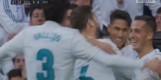 Le superbe but d'Achraf Hakimi avec le Real Madrid (VIDEO)