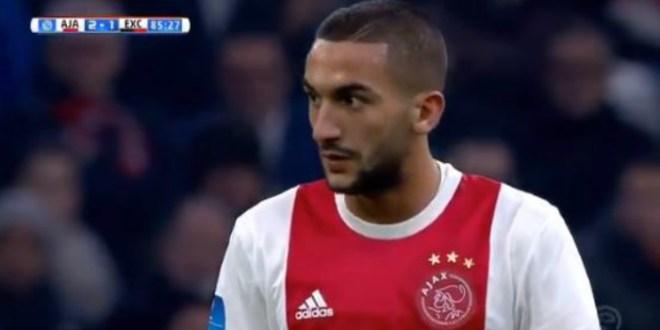 Le superbe but de Hakim Ziyech avec l'Ajax Amsterdam (VIDEO)