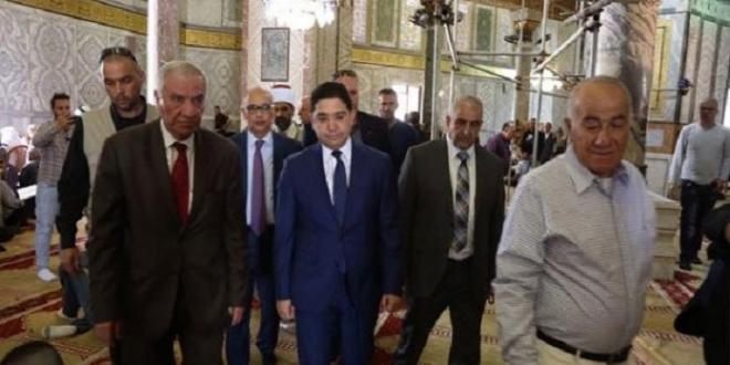 Nasser Bourita à la moquée Al-Aqsa