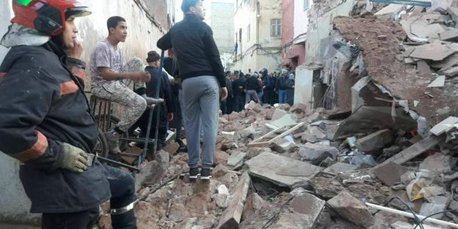 Les images des effondrements de samedi à Casablanca