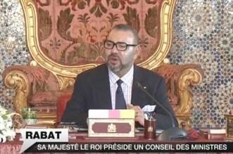 Les détails du Conseil des ministres présidé par le roi Mohammed VI
