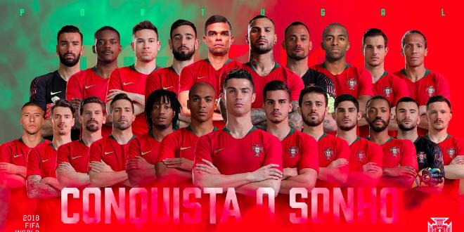 La liste des 23 Portugais, adversaires du Maroc au Mondial 2018