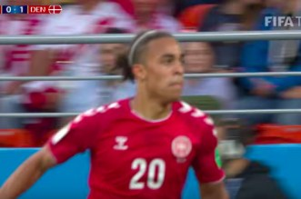 Le but du Danemark contre le Pérou (VIDEO)