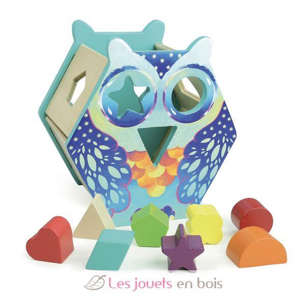 Owl shapes box - Vilac 2479 - wooden shapes box