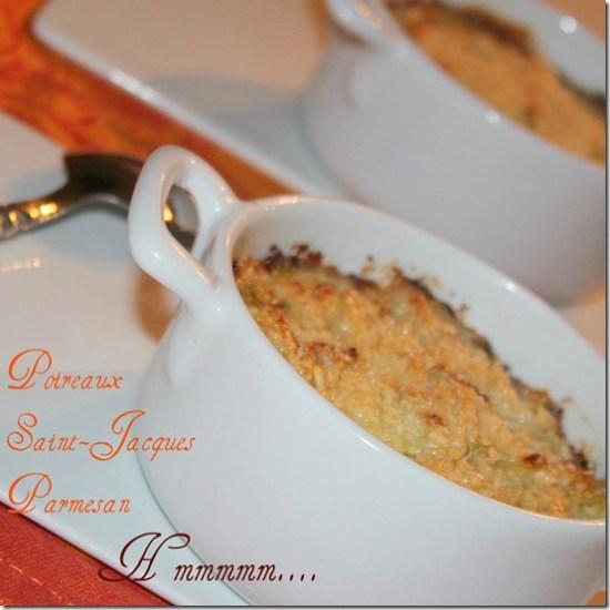 Noix de saint jacques fondue de poireaux - Saint jacques au four ...