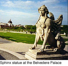 Sphinx at Belevedere Palace