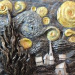 Interpretation of Van Gogh's Starry Night by Leslie Joy Ferguson