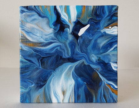 Blue No.8, abstract acrylic painting by Leslie Joy