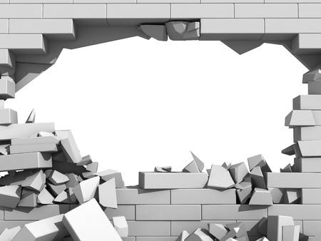 3d Brick Wallpaper For Walls Break Through The Brick Wall Of Resistance