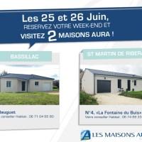 Les 25 et 26 Juin, visitez deux maisons Aura !