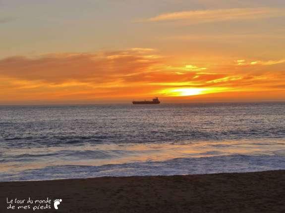 Vina del mar coucher de soleil