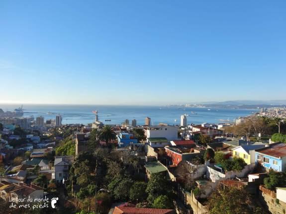 vue depuis la maison de pablo neruda a Valparaiso