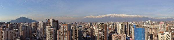 panorama santiago chili andes