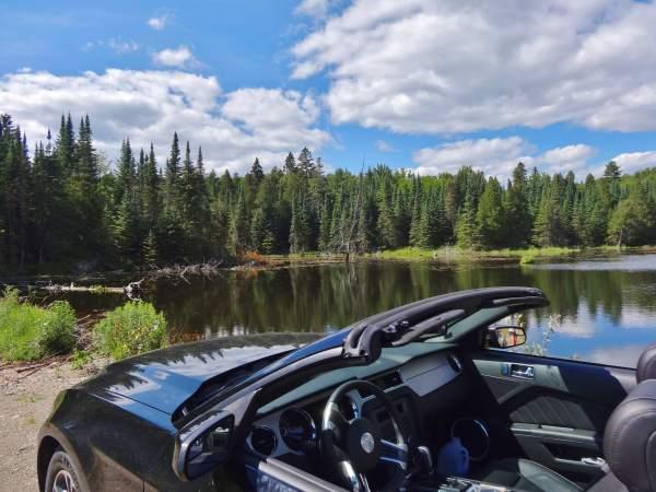 Black lake canada ford mustang road trip