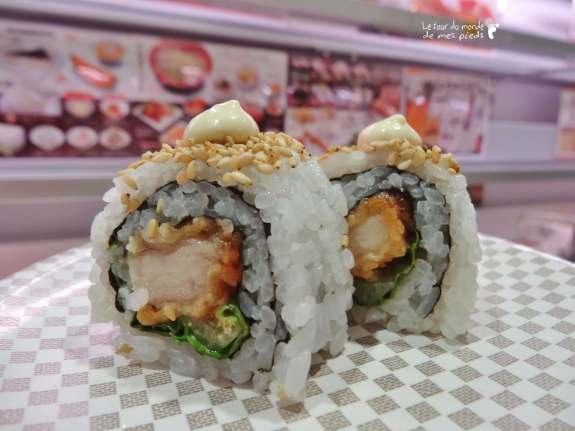 sushi pas cher à uobei tokyo shibuya