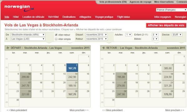 calendrier-vols-norwegian