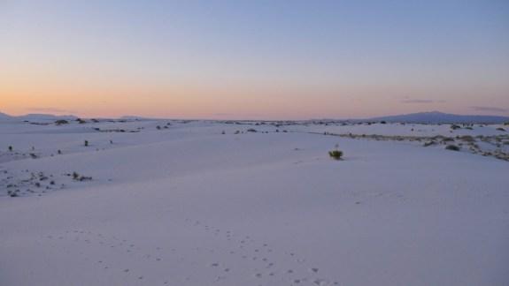 white sands coucher de soleil