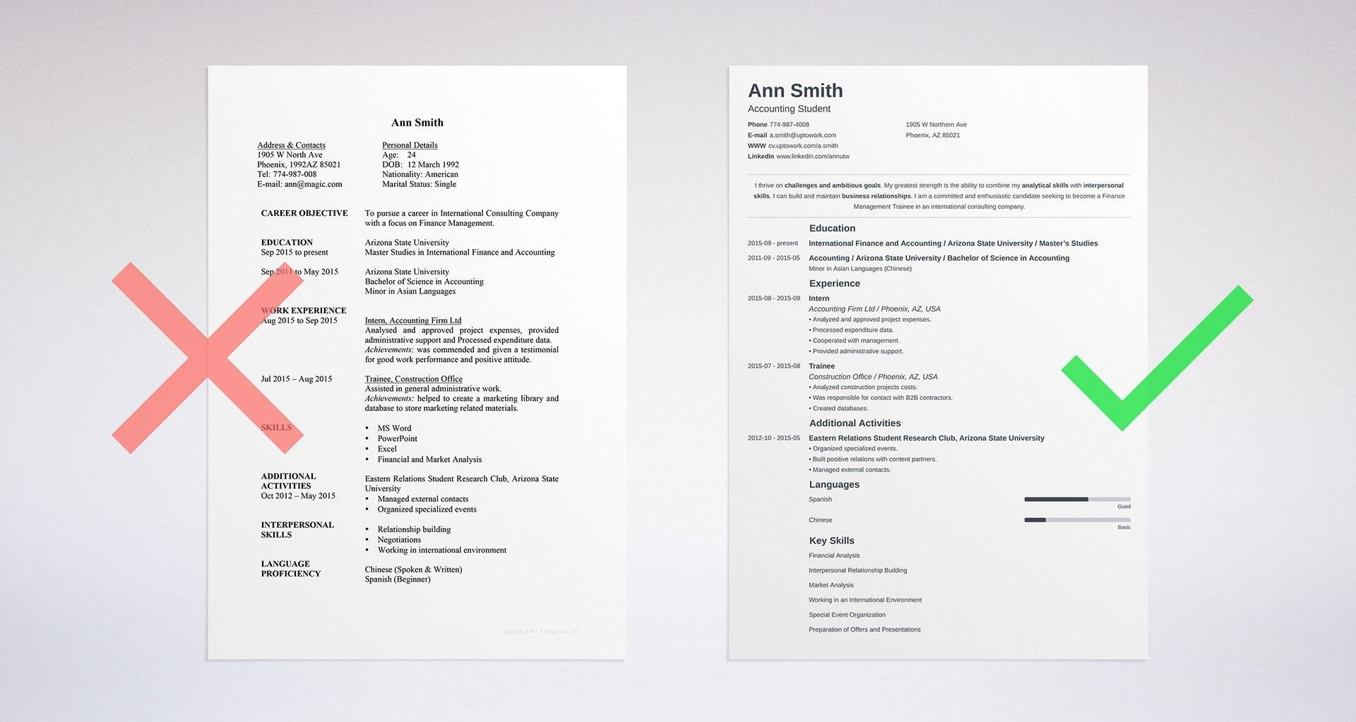 how to make up a resumes