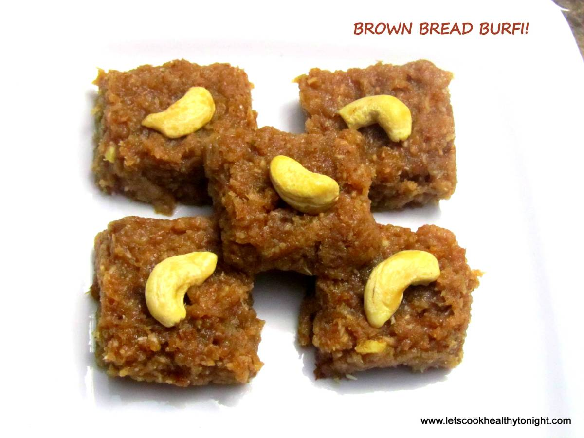 BROWN BREAD BURFI