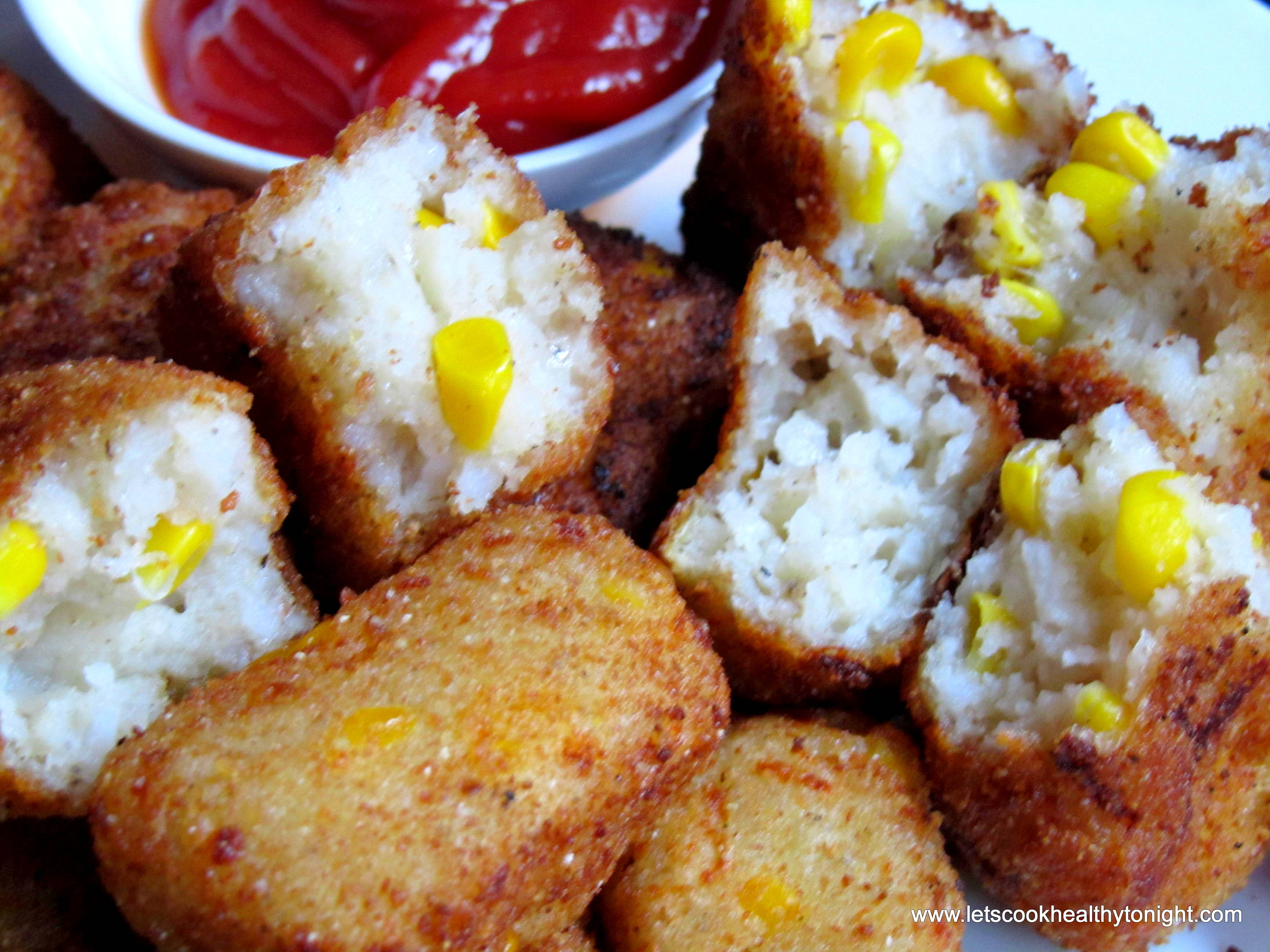 Corn and sooji nuggets lets cook healthy tonight here is the recipe corn and sooji nuggets forumfinder Choice Image