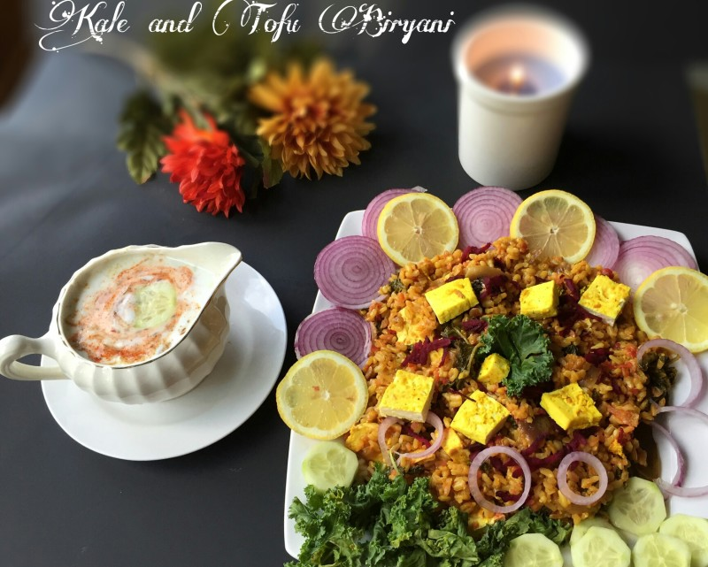 KALE AND TOFU BIRYANI WITH BROWN RICE