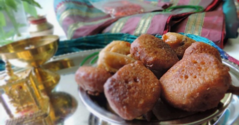 Meethey Puye or Gulguley( Sweet Whole wheat fritters)