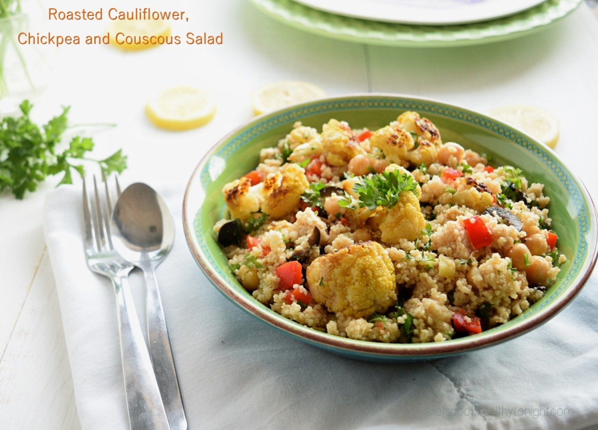 Roasted Cauliflower, Chickpea and Couscous Salad