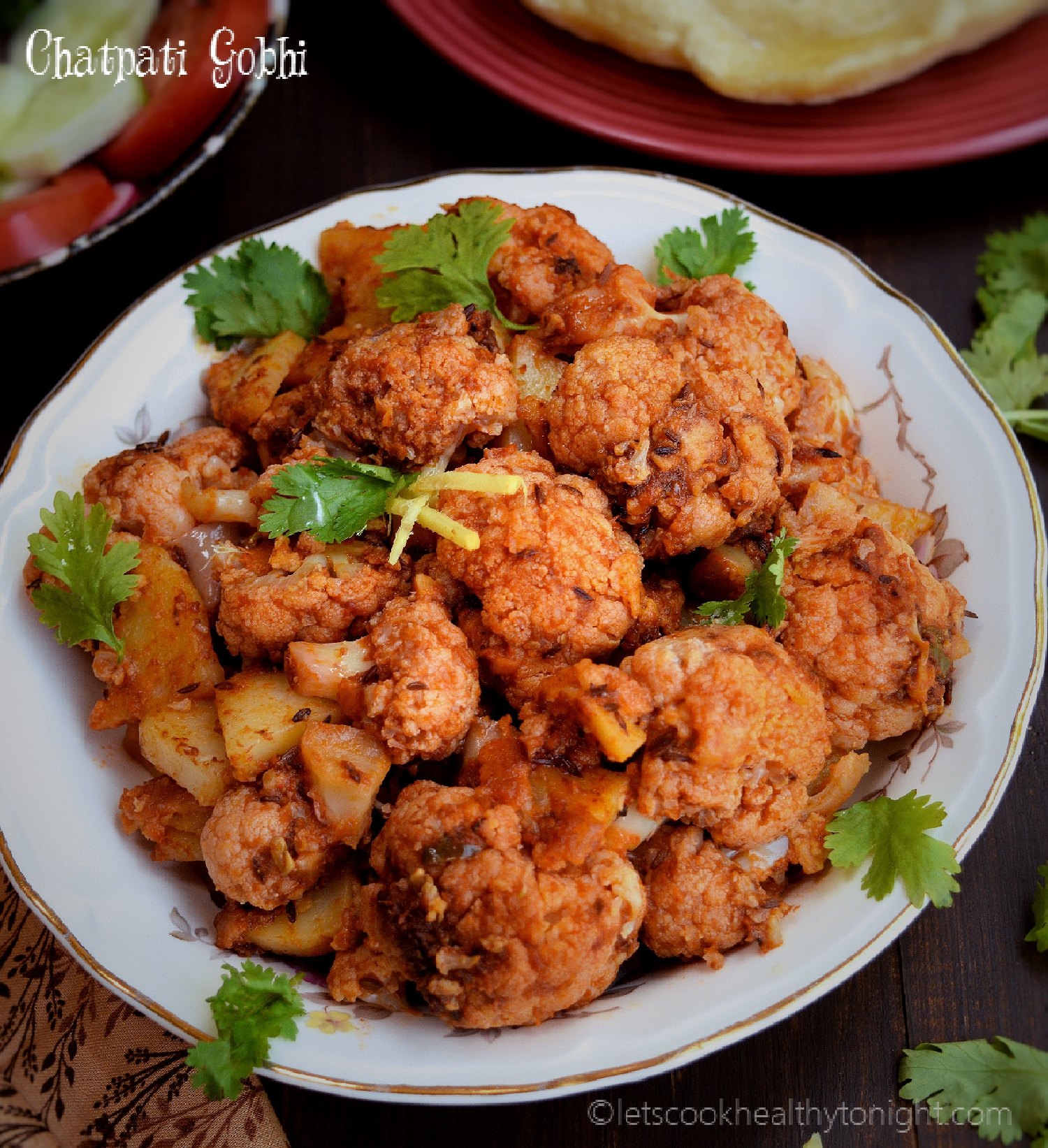 Chatpati Gobhi- Spicy Cauliflower (no onion- no garlic )