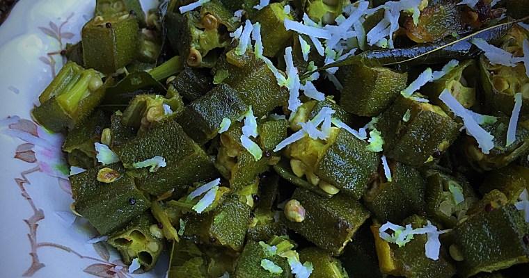 Vendakka | Okra| Bhindi Thoran-Onam Special